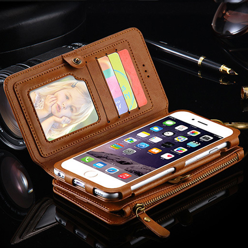 Luxury i5 5S Leather Wallet Case for Apple iPhone 7 7 Plus 6 6S Plus 5
