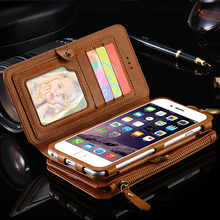 Luxury i5 5S Leather Wallet Case for Apple iPhone 7 7 Plus 6 6S Plus 5.5″ Phone Bag Cover  for Apple iPhone7 6S Stand Card Slot