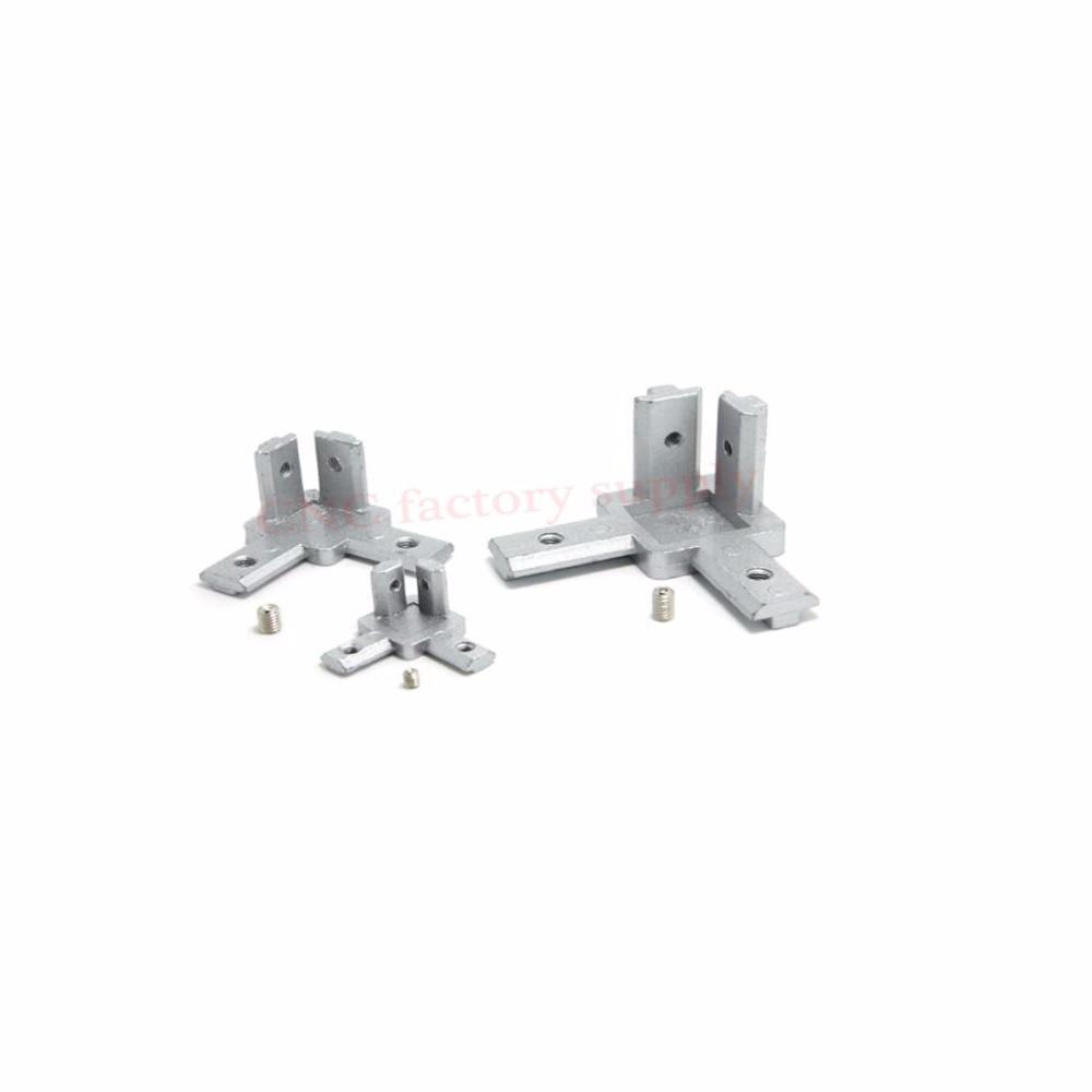 HOT sale L type 3-dimensional bracket 2020 Concealed 3-way corner connector EU standard 20/30/40 series Aluminum Profile parts hot sale prdl18 7dn lengthen type