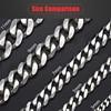 """3-11mm Men's Bracelets Silver Stainless Steel Curb Cuban Link Chain Bracelets For Men Women Wholesale Jewelry Gift 7-10"""" KBM03 9"""