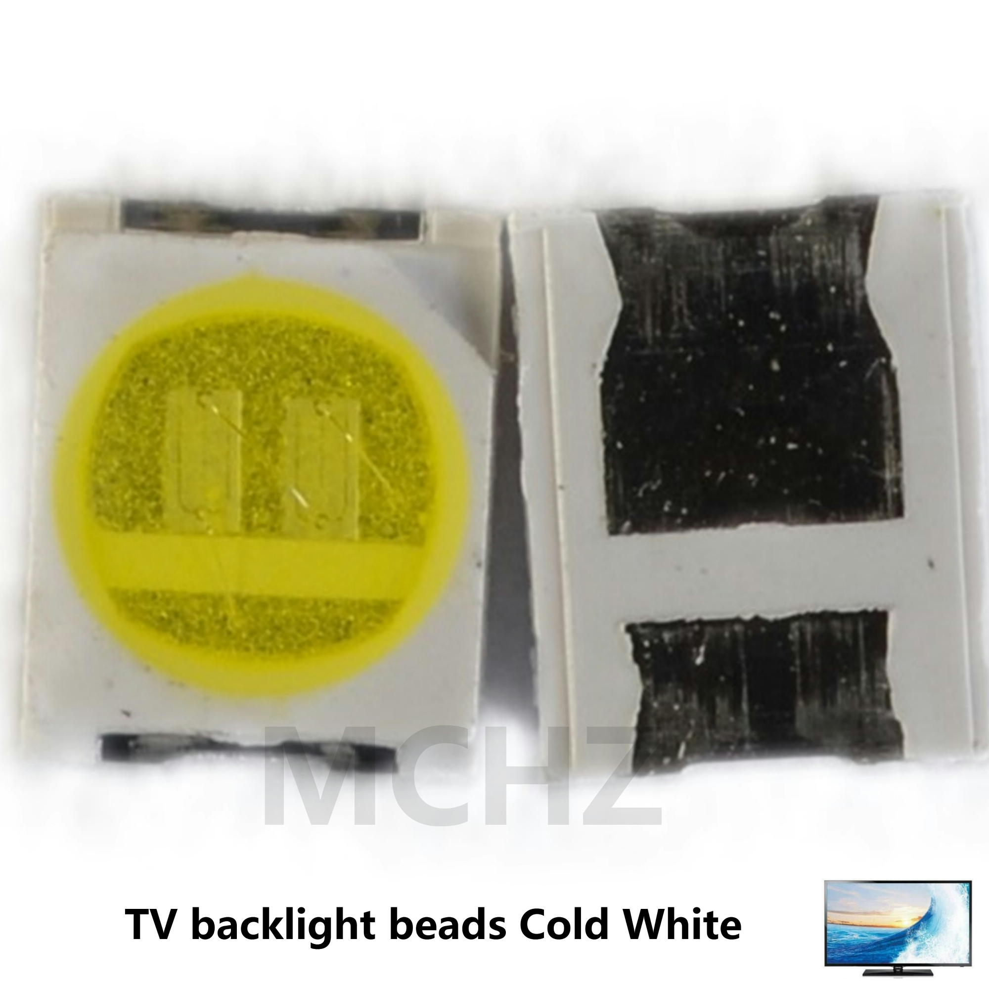 200PCS MCHZ Factory Biggest Discount JUFEI <font><b>LED</b></font> TV Backlight 1210 3528 <font><b>2835</b></font> 6V-6.4V <font><b>150MA</b></font> 1W 92LM Cool white image