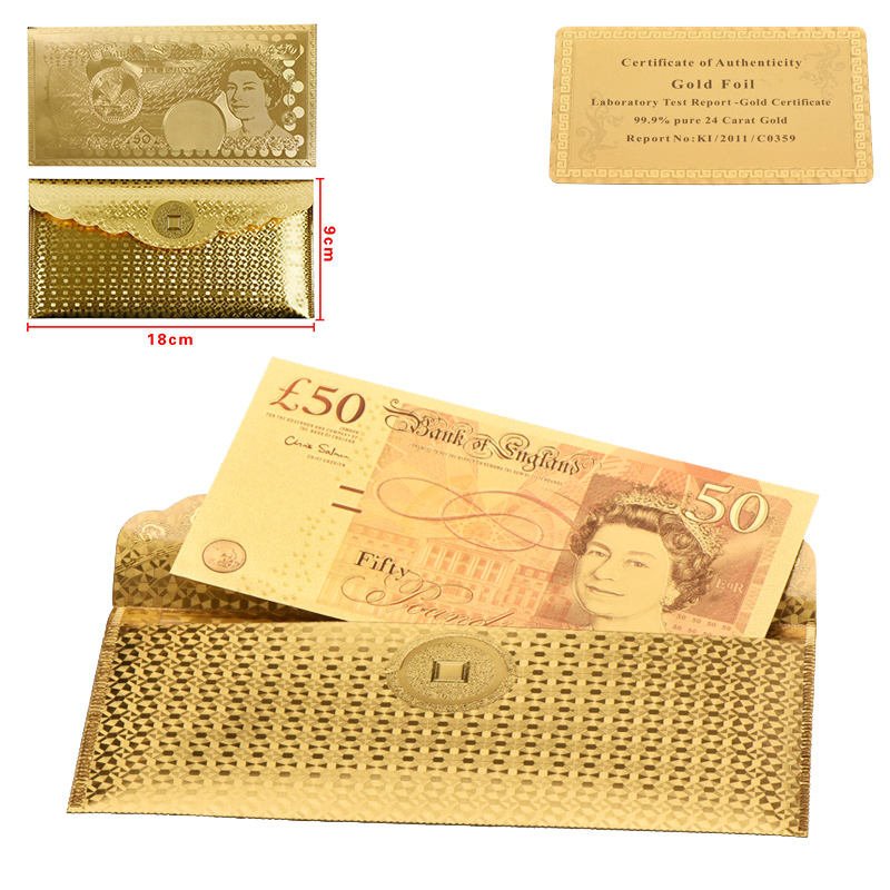 Gold Banknotes Zimbabwe 20 Dollar Paper Money Festival Gifts Bill Note