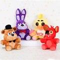 """2015 Hot 10 """"Cinco Noites Fazbear FNAF Freddy Freddy Recheadas Brinquedos De Pelúcia Urso Coelho Bonnie Foxy Chica Juguetes Peluche"""