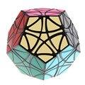Gigaminx MF8 Helicóptero Dodecaedro Magic Cube Velocidade Enigma Cubos De Brinquedos Para Crianças-Preto/Branco