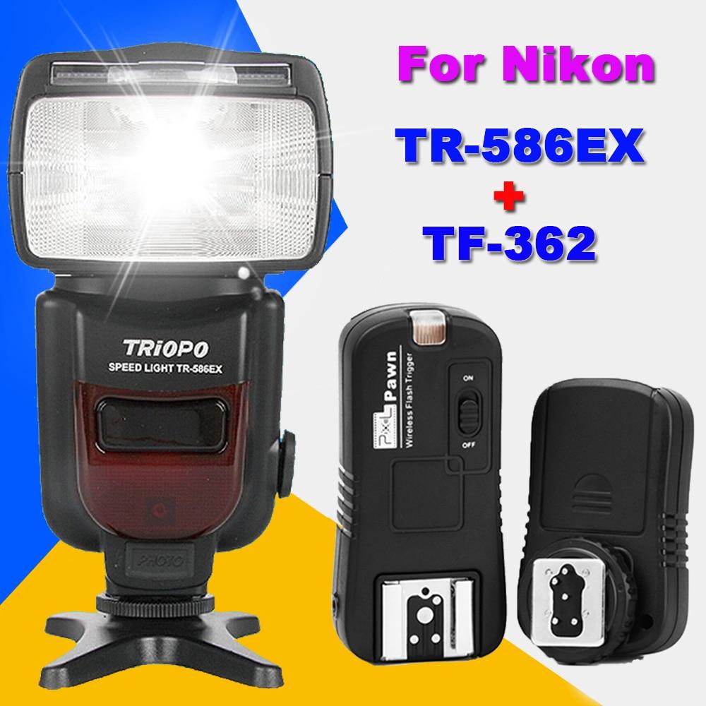 TRIOPO TR-586EX TTL Speedlite Flash + Pixel TF-362 Flash Trigger For Nikon d7100 d3100 d5300 d7000 d90 d5200 d7200 d750 d610 d80 вазы elan gallery ваза павлин в райском саду