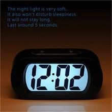 f2cdc591237 Carga USB LEVOU Relógios De Parede design moderno 3d Digital LCD Viagem  Relógio Despertador com Snooze