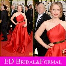 Julie Delpy Kleid Taft 2014 Golden Globes Awards Roter Teppich Kleid Berühmtheit Spornte Abendkleid Abendkleid