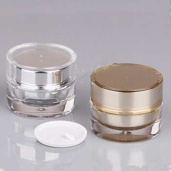 5g Empty Round Acrylic Cream Jar container Small sample Cosmetic Pot ,Golden eye cream Cosmetics Packaging tin bottle F20171544