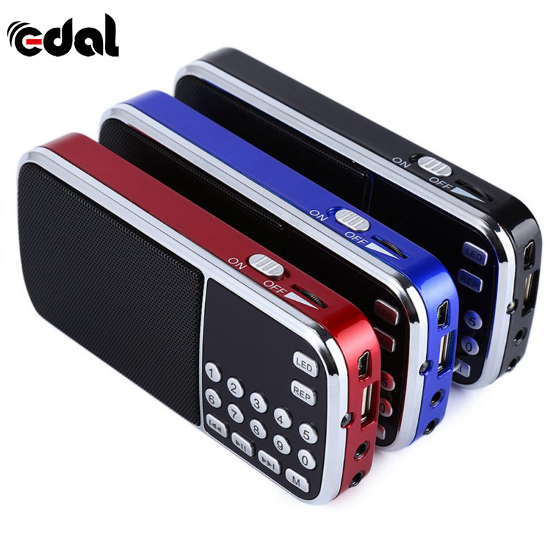 Blu Nero Rosso Mini Portable Digital Stereo FM Radio Mini Speaker Lettore Musicale con TF Card USB AUX Ingresso Audio Box