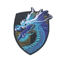 3D Drago Cinese Ricamo Patch Militare Hook & Loop Fastener Tattico Morale Patch Emblem Badges Appliques Zone Del Ricamo(China)