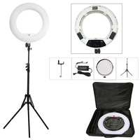 Yidoblo white FS 480II 5500K Dimmable Camera Pro 2 color adjustable 1848W 480 LED Ring Light LED Lamp+ 200cm tripod +Bag Kit