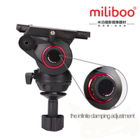 miliboo MYT803 Upgraded Adjustable Damping DSLR Aluminium Video Camera Tripod Fluid Head