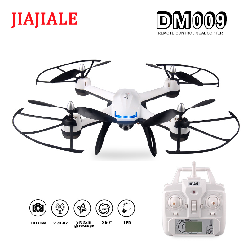 JIAJIALE Drone 33CM DM009 2.4GHz 4CH 6-Axis Gyro RC Quadcopter FPV real-time with hd camera Hold Altitude Model