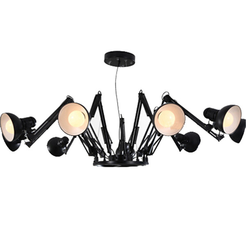 asp widow hinged click brass spider ceiling and black p expand to chandelier