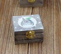(4 pieces a set) Hayao Miyazaki Totoro wooden music box