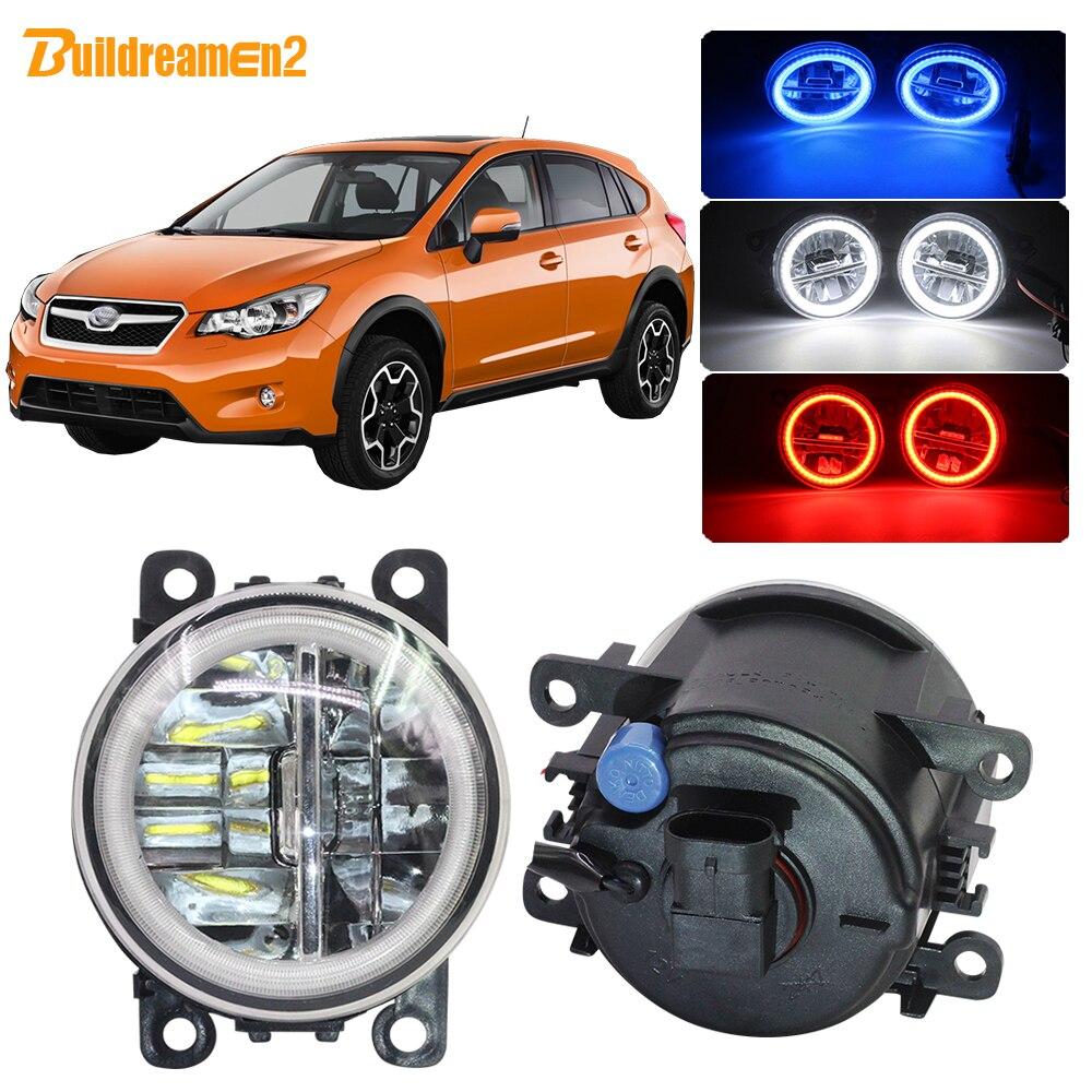 Buildreamen2 Car H11 LED Bulb Fog Light Kit Angel Eye DRL Daytime Running Light 4000LM 12V