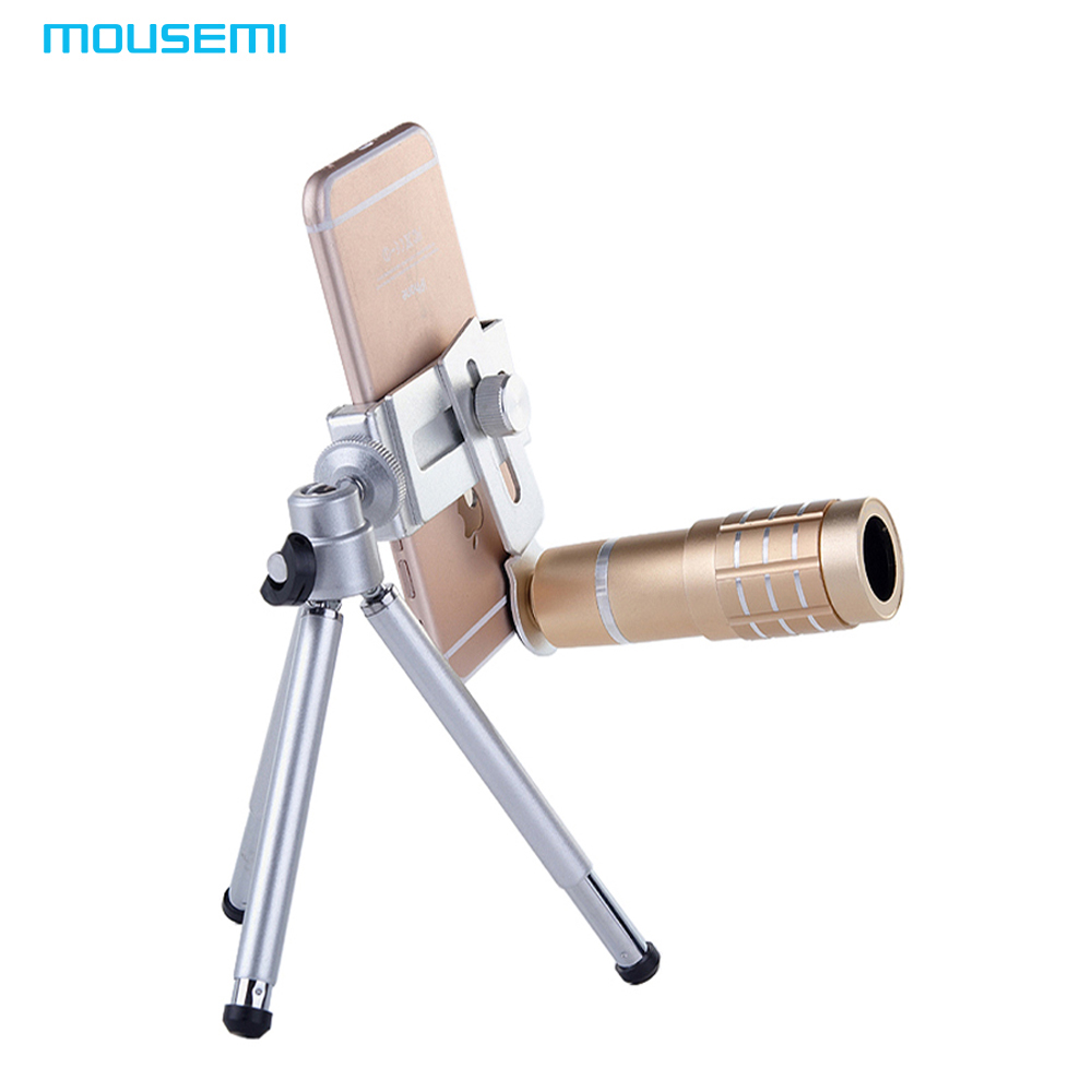 MOUSEMI Universal Clip 12x HD Telephone <font><b>Lens</b></font> For <font><b>iPhone</b></font> 7 6 <font><b>Camera</b></font> Mobile Phone <font><b>Lens</b></font> To Smartphone Lentes Zoom Telescope <font><b>Lenses</b></font>