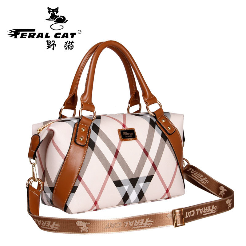 FERAL CAT Boston Women Bag Ladies PVC Crossbody Bags 2017 New Vintage Designer Handbags High Quality Famous Brands Tote Hobo Bag feral cat fashion pvc leather handbags women famous brands crossbody bag trunk tote designer shoulder culth ladies bolsos mujer