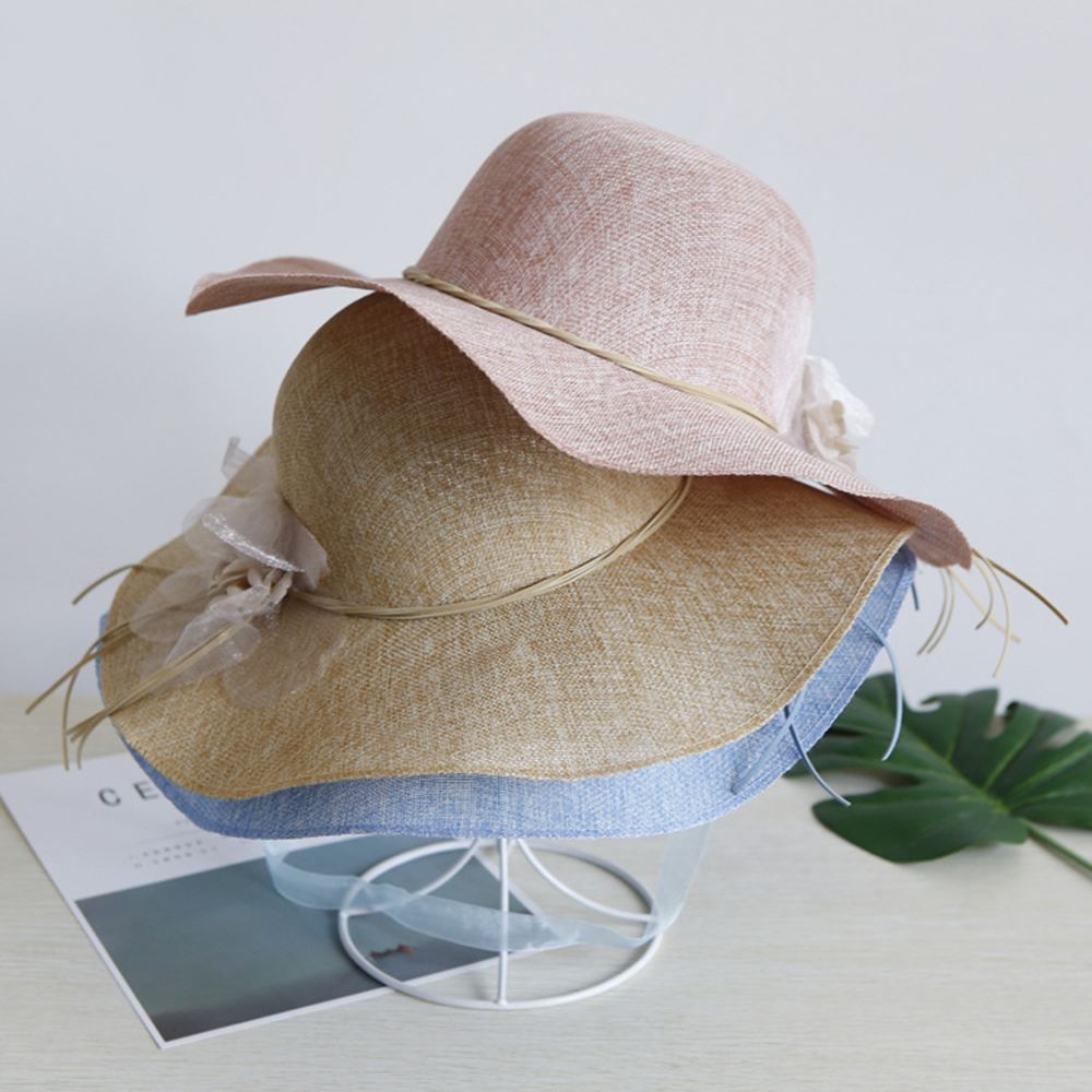 58239743 Floral Summer Straw Hat Women Beach Sun Hats Wide Brim Floppy Cap Harajuku  Quick Dry UV Protection Outdoor Ladies Caps Casual