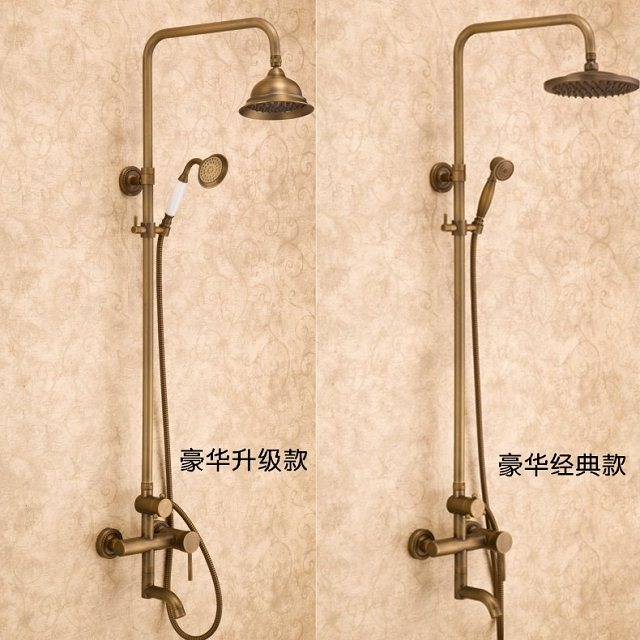 Aliexpress Bathroom Shower Head Rainfall Round Shower Set Golden ...