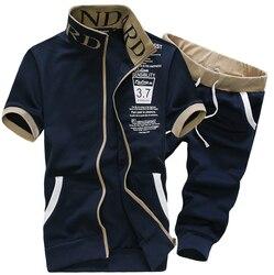 2pcs 2016 fashion summer stand collar short sleeve polo men pant men suit men s casual.jpg 250x250