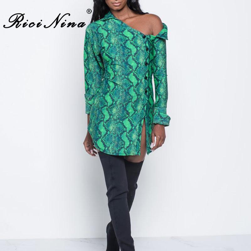 RICININA 2018 Sexy Off Shoulder Loose Shirt Women Fashion To