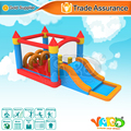 High quality home use bounce house inflatable obstacle course bouncy castle slide with free shipping