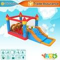 Uso doméstico de alta qualidade casa do salto inflável pista de obstáculos corrediça bouncy castelo com frete grátis