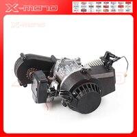 Black 49cc engine with gearbox of mini dirt bike off road bike for kids moto brand name KXD LIYA HIGHPER