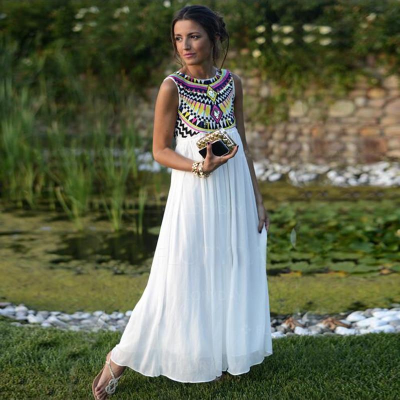 Ukraine Maxi Bohe Dresses Plus Size Long Summer Dress Beachwear ...