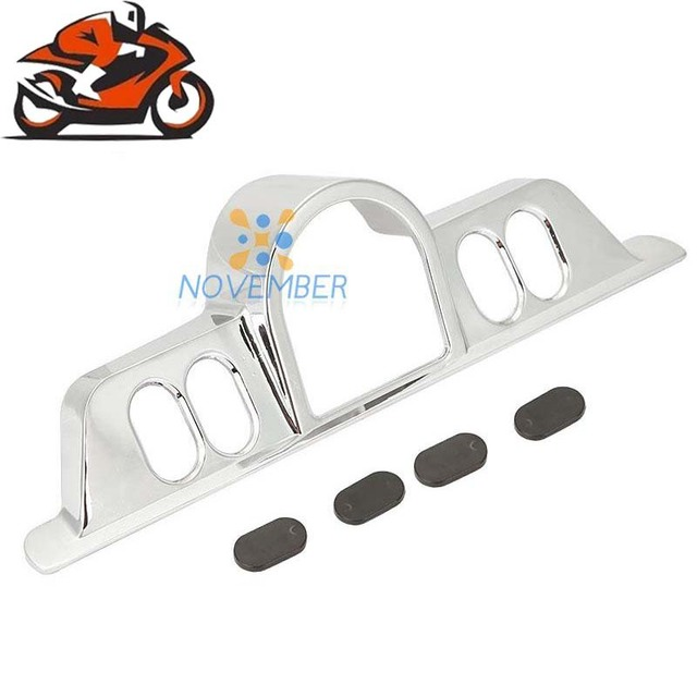 US $40 11 |Chrome Motorcycle Switch Panel Accent Cover Fairing Gauge Bezel  for Harley Davidson Electra Glide Street Glide Trike 1996 2013-in Covers &