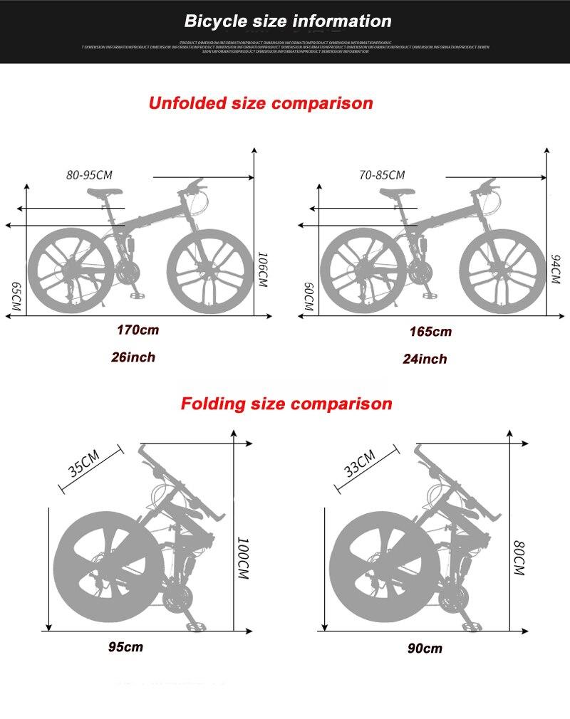 HTB1FWJiSwHqK1RjSZFgq6y7JXXas 24 26inch folding mountain bike 21 speed double damping 6 knife wheel and 3 knife wheel bicycle double disc brakes mountain bike