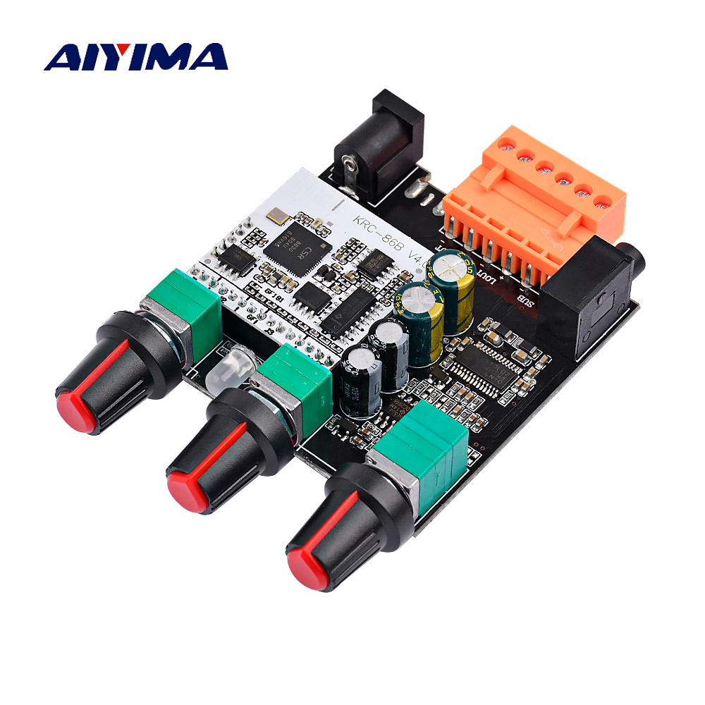 AIYIMA TPA3110D2 Subwoofer Amplifier Board 15W*2+30W 2.1 Channel Bluetooth 4.0 TPA3110 Digital Audio Amplifier Home Theater