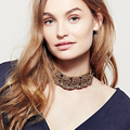 Vedawas 2016 New Arrival Vintage Jewelry Metal Maxi Necklace&Pendant Collar Choker Necklace Acrylic Bead Statement Necklace 2211