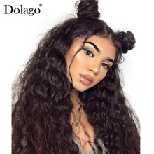 Loose Wave Wig 250% Lace Front Human Hair Wigs For Women Brazilian Remy Hair 13×4 Glueless Lace Frontal Wig Long Black Dolago