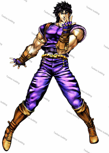 JoJos Bizarre Adventure All Star Battle Jonathan Joestar Short Blue Hair Anime Costume Cosplay