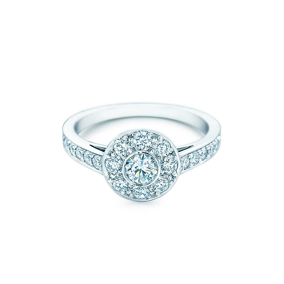 Unfailing Rings In Jewelry Bridal Accessory 25ct Flower Simulate Diamond  Ring Solid 18k 750 White Gold Jewelry Engagement Ring