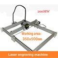1 шт. 200 мВт лазерная машина  DIY устройство для лазерной резки  большая площадь гравировки  35*50 см  высококлассный алюминиевый толстый акрил