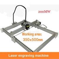 1 PC 200 mw laser máquina  DIY carving máquina a laser  grande área gravar  35*50 centímetros Sênior de alumínio de espessura de acrílico|Roteadores de madeira| |  -