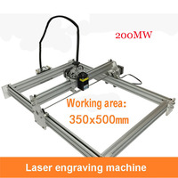 1PC 200mw laser machine DIY laser carving machine big engrave area 35*50cm Senior aluminum   thick acrylic