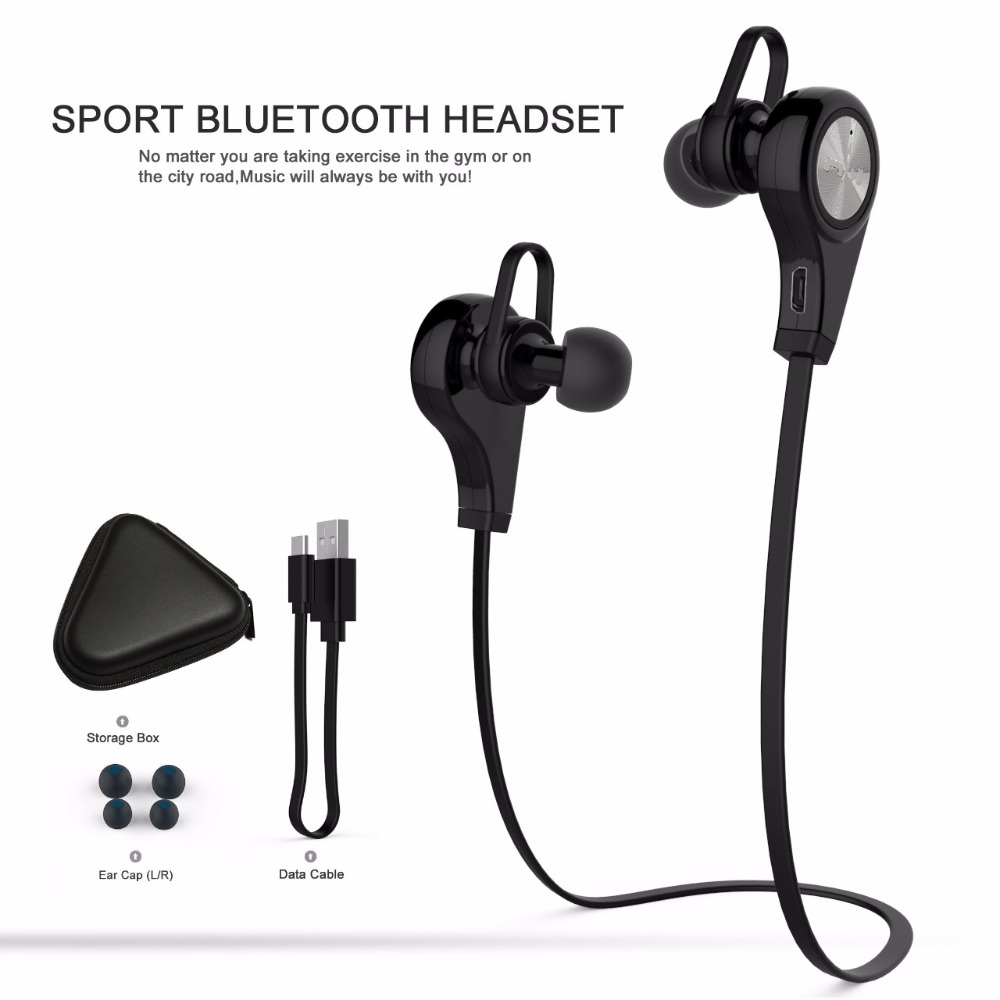 Hot Sale Universal GDLYL Sports Bluetooth Headsets CSR4.1 Wireless Headphones In-ear Stereo Earphone with Mic for iPhone Android