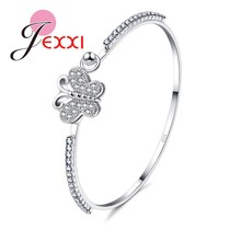 PATICO Hot Sale New Coming Luxury Fine Jewelry Crystal Bracelet For Women And Girl's Gift Romantac Bangles With Butterfly