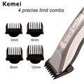 Kemei bajo ruido hoja de aleación de titanio hombres Recargable Profesional Hair Trimmer Máquina De Corte de Cortar El Pelo Eléctricas P00