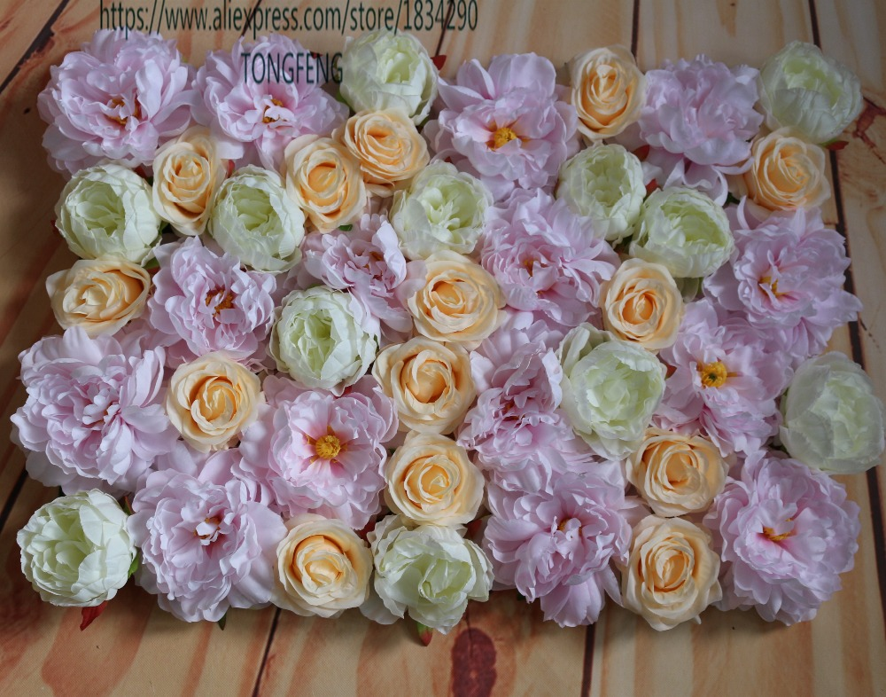 Wedding Flower Wall Arch Flower Artificial Silk Rose And