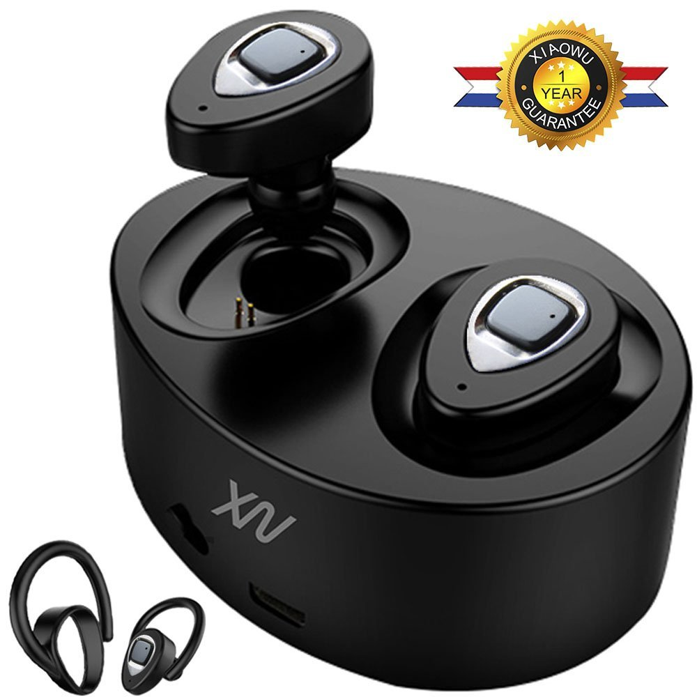 Original XIAOWU k5 mini Headset wireless bluetooth earphone Binaural earbuds with Mic Charging Box for iphone 8 /android phone wireless bluetooth headset two mini earphone together separate use stereo earbuds with charging dock for iphone android phone