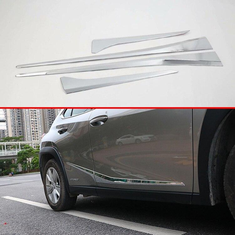 Pour Lexus UX200 250H 260H 2019 2020 accessoires de voiture ABS Chrome garniture de moulage de corps de porte latérale