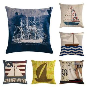 Retro Sailing Cushion Cover