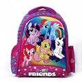 2016 niños de dibujos animados mi pequeño pony para niños mochilas escolares para las niñas lovely morral minions mochila escolar niño infantil
