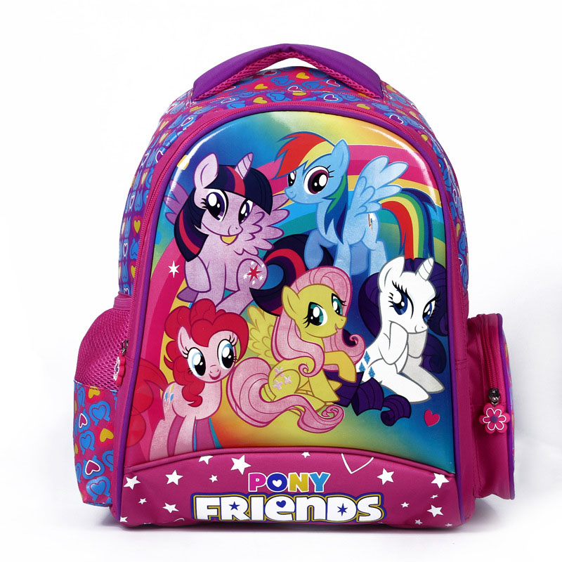 Cartoon my little pony children school bags for girls lovely backpack kid schoolbag boys minions child