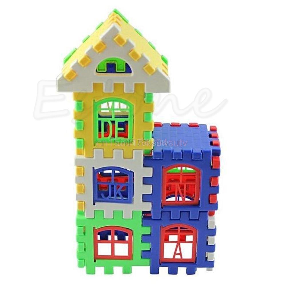 Bayi Kanak-kanak Kanak-kanak Blok Bangunan Rumah Pendidikan - Mainan pembinaan - Foto 5